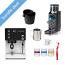 Rancilio Silvia Black Espresso Machine and Rocky Doserless Black Grinder Bundle