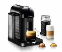 Nespresso Breville VertuoLine BLACK Bundle with Aeroccino 3