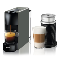 Breville Nespresso Essenza Mini GREY with Aeroccino Single Serve Espresso Machine BEC250GRY1AUC1