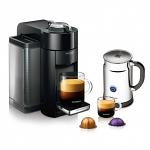 Nespresso VertuoLine Evoluo Deluxe Black Bundle with Aeroccino Plus