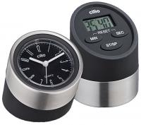 Cilio Kitchen Digital Timer with Clock Black