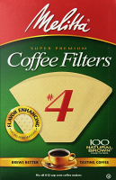 Melitta Cone Filters #4 Natural Brown 100 Pack