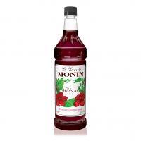 Monin Hibiscus Syrup 1L Plastic Bottle