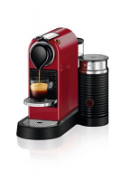 Nespresso Citiz RED Bundle with Aeroccino Single Serve Espresso Machine C122