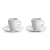 Delonghi Ceramic Espresso Cups & Saucer by Tognana Set of 2 - DLSC308