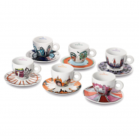 illy Art Collection Cappuccino Cups by Emilio Pucci - set of 6