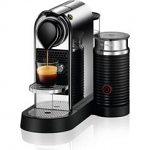 Nespresso Citiz Chrome Bundle with Aeroccino Single Serve Espresso Machine C122
