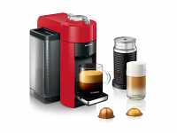 Delonghi Nespresso Vertuo Evoluo RED Single Serve Espresso Machine with Aeroccino 3 ENV135RAECA