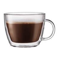Bodum Bistro Doublewall 15oz, set of 2   (Short and Wide Latte Bowl Style)
