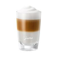 Jura Short Latte Macchiato Glass Cups with Jura Logo Set of 2 - #71792