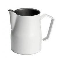 Motta Professional Milk Pitcher MATTE WHITE 50cl. (500ml/17oz) Stainless Steel Inox 18/10
