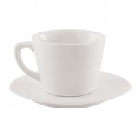 AXA White Porcelain Triangle Cappuccino Set of Six    # 510/7