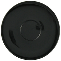 "CremaWare 6.5"" Black Saucer - for 6oz - 16oz cups"