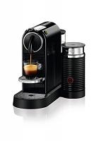 Nespresso Citiz BLACK Bundle with Aeroccino Single Serve Espresso Machine D120